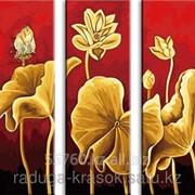 Картина по номерам Золотые лилии фото