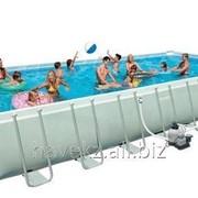 Прямоугольный каркасный бассейн Intex 28362, Ultra Frame Pools, 732х366х132см фото