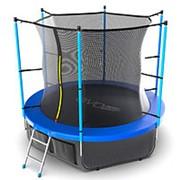 Батут с внутренней сеткой и лестницей EVO JUMP Internal 8ft (Blue) + Lower net. фото