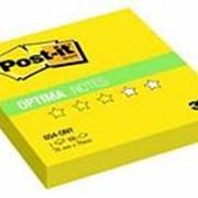 Post-it Optima Блокнот клейкий 3M Post-it 654-ONY Optima Лето, 76х76мм, 100л, неон желтый фото