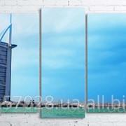 Модульна картина на полотні Дубай. Готель Парус код КМ100200(176)-235-FED фото