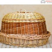 Хлебница плетеная Еко с крышкой Код: Арт 046-4 фото