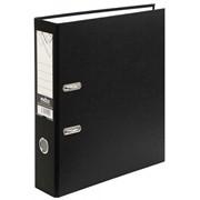 Папка-регистратор 80 мм, PVC, черная, без метал. окант, (INDEX) фото