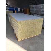 Стеновая сэндвич-панель с утеплителем из минеральной ваты. Плотностью 100-125 кг\м3 фото
