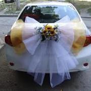 Украшения свадебных машин фото