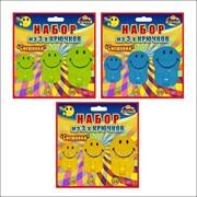 Набор из 3-х крючков Смешинки 3 цвета, код: 27.155 фото