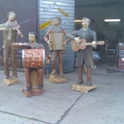 Скульптура Музыканты в стиле ретро фото