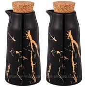 Набор для масла и уксуса lefard fantasy 2 бутылки 14*6,5 см 200 мл черный фото