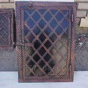 Дверца коптилки метал+ковка 1-ств.(40х60) (елка) фото
