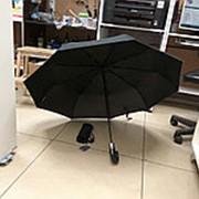 Зонт, черный, соло, автоматический, складной, компактный фото