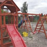 """Детский комплекс """"Антошка"""" деревянный фото"""