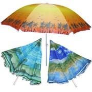 Зонтик - тент пляжный d-170см с функцией наклона, в пакете фото