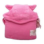 Халат Minene Махровый детский халат Cuddly Bath Robe на 3-4 года, розовый зайчик фото
