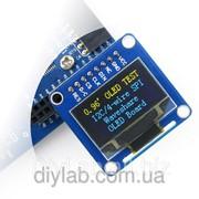 LCD OLED 0.96'' 128x64 SPI/I2C Yellow-Blue фото