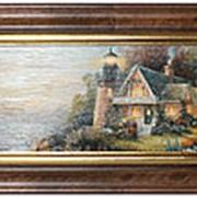 Картина Ники Беме Летний пейзаж/Замки 64х34см. арт.U49-5 фото