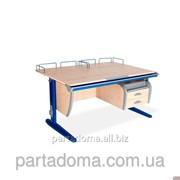 Стол универсальный трансформируемый СУТ.15-04 клен/синий фото