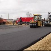 Строительство дорог. фото