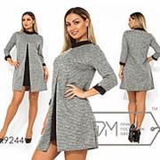 Платье женское трапеция мини (2 цвета) - Серый PY/-0153 фото