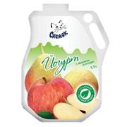 Йогурт питьевой с яблоком и грушей 1,5%, 900г фото