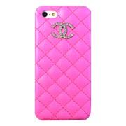 Крышка iPhone 5 Chanel розовая прошитая фото