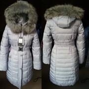 Пуховик,куртка,пальто женское холлофайбер с мехом Енота фото
