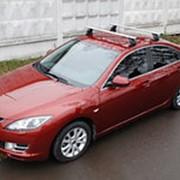 Поперечины 2шт, 1,2м прямоугольные со штатными местами Mazda 3 2003-2008/2008-2013 седан фото
