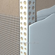 Угловой профиль с армирующей сеткой фото