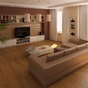 Дизайн интерьера, Гостиная комната в панельном доме. фото