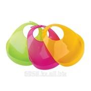 Слюнявчик пластиковый с карманом-отворотом 6+ фото