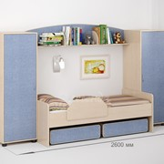 Детская комната Легенда 20 венге светлый/лен голубой фото