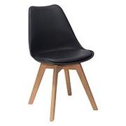 Стул FRANKFURT, черный, деревянные ножки фото