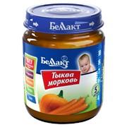 """Овощное детское пюре """"Беллакт"""". Тыква-морковь фото"""