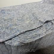 Салфетка для пола ХПП, Серая, частопрошивная,оверлок 60х80 см, без упаковки фото