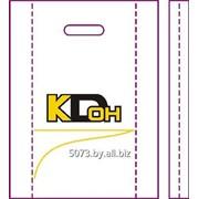 Пакет п/э ПНД с прорубной ручкой с боковыми вкладками с рисунком/логотипом заказчика фото