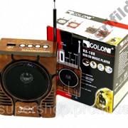 Радиоприемник колонка MP3 Golon RX-188 MIC WOODEN par003024opt фото