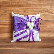 Подушечка для колец фиолетовая с розочками (арт. CR-012) фото