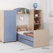 Детская комната Легенда 25 венге светлый/лен голубой фото
