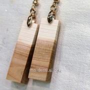 Бижутерия ручной работы SOLO серьги из дерева фото