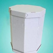 Коробка для торта на 10 кг. 8-гранная 550*1040, белая фото