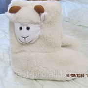 Чуни взрослые из овчины с овечкой фото