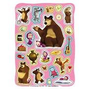Наклейки. 100 наклеек. Маша и Медведь фото