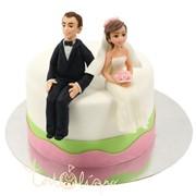 Свадебный торт свесив ножки №670 фото
