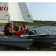 Спортивно-туристический надувной парусный катамаран разборной конструкции Alpiro 18 фото