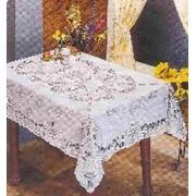 Скатерть ПВХ Embossed 137х180см белая (1/48) фото