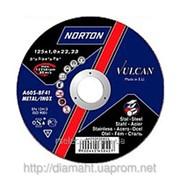 Круг абразивный отрезной 115 x 2.5 x 22.23 NORTON VULCAN отрезка фото
