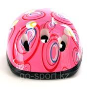 Шлем защитный, детский, розовый фото