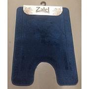 """Коврик для туалета """"Zalel"""" 50х80см (ворс) синий фото"""