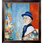 Картина Автопортрет с масками, 1936 , Энсор, Джеймс фото