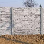 Забор железобетонный Дикий камень фото