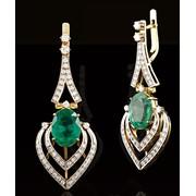 Серьги золотые с бриллиантами Арт.133-0057 фото